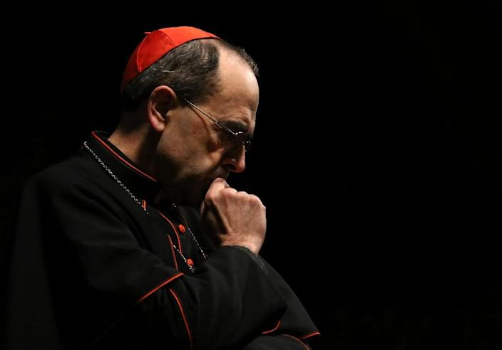 The 65-year-old archbishop of Lyon, Philippe Barbarin, has fiercely denied charges that he covered up paedophilia crimes (AFP Photo/Safin Hamed)
