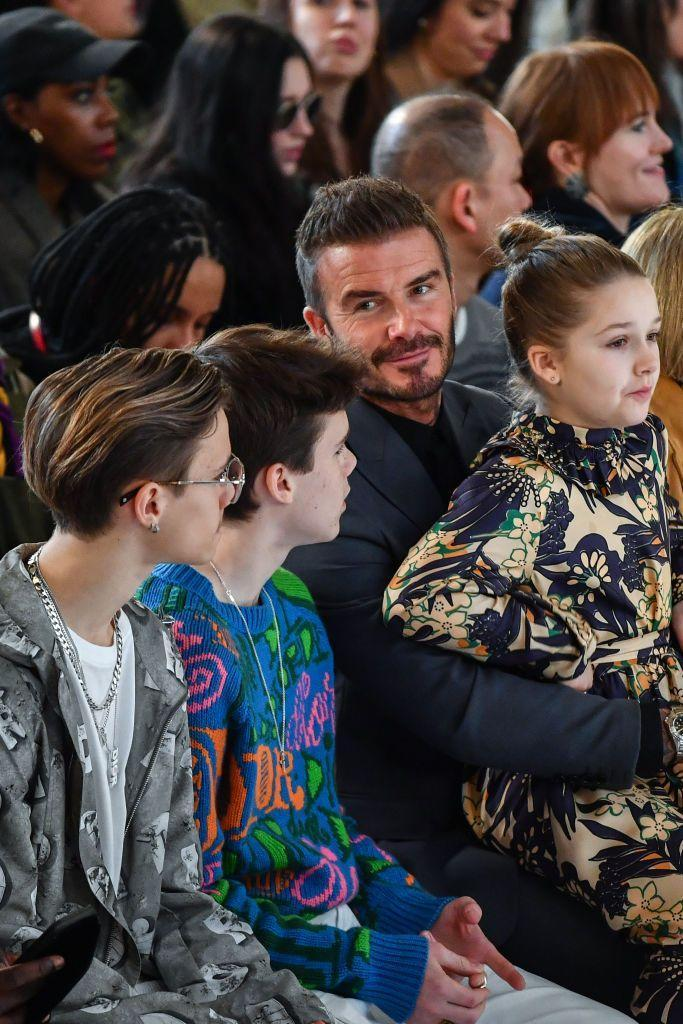 """<p><strong>Children</strong>: Brooklyn Beckham (21), Romeo James Beckham (17), Cruz Beckham (15), Harper Seven Beckham (8)</p><p><a href=""""https://www.oprahmag.com/entertainment/g28690339/celebrity-couples/?slide=12"""" rel=""""nofollow noopener"""" target=""""_blank"""" data-ylk=""""slk:Married since 1999"""" class=""""link rapid-noclick-resp"""">Married since 1999</a>, the world-renowned soccer star has four children with fashion designer Victoria Beckham.""""In my career there's many things I've won, and many things I've achieved, but for me my greatest achievement is my children and my family,"""" the 44-year-old dad said to <a href=""""https://people.com/celebrity/david-beckham-answers-your-questions/"""" rel=""""nofollow noopener"""" target=""""_blank"""" data-ylk=""""slk:People Magazine"""" class=""""link rapid-noclick-resp""""><em>People Magazine</em></a>.</p>"""