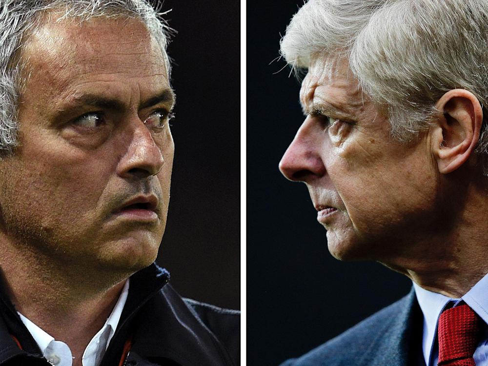Jose Mourinho and Arsene Wenger will meet again this weekend: Getty