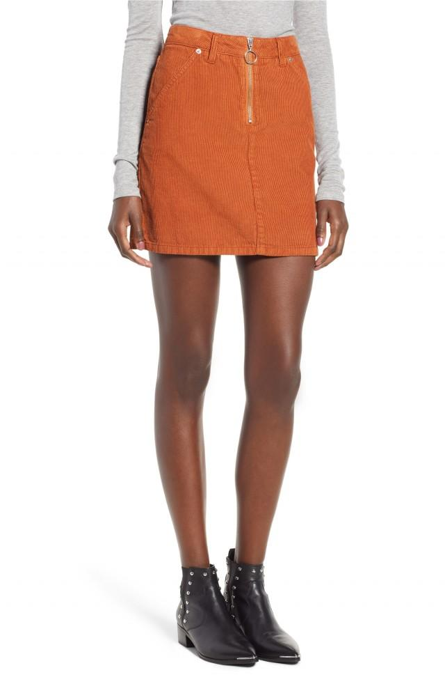 Topshop cord mini skirt