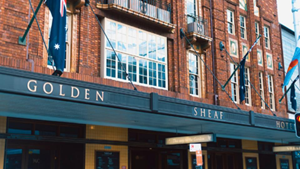 Pictured is The Golden Sheaf Hotel in Double Bay, Sydney.