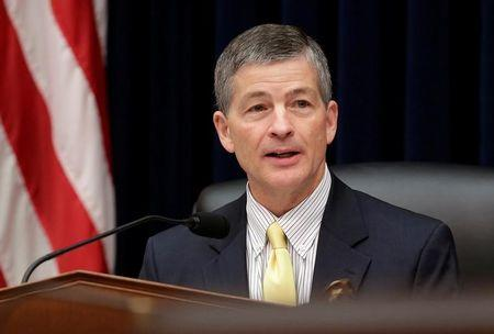 FILE PHOTO: Chairman of the House Financial Services Committee Jeb Hensarling (R-TX) questions SEC Chairwoman Mary Jo White during a hearing in Washington.