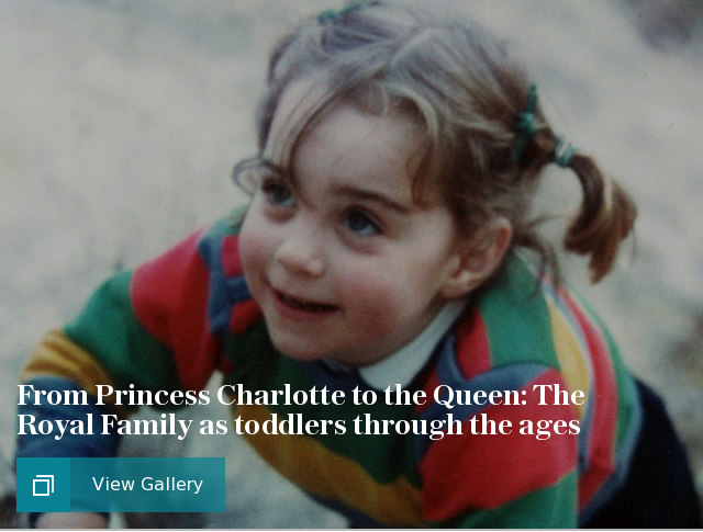 From Princess Charlotte to the Queen: The Royal Family as toddlers through the ages