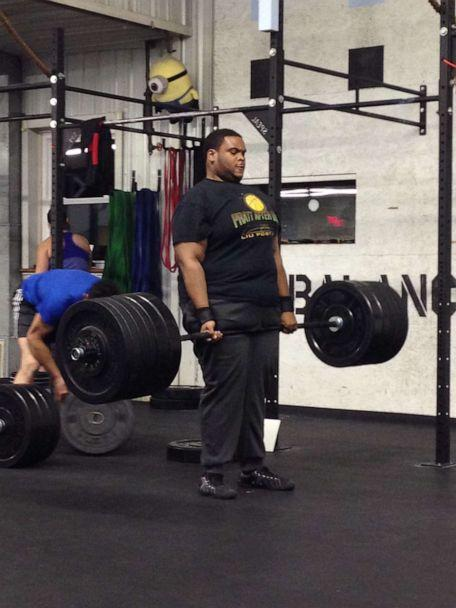PHOTO: Romar Lyle at the Crossfit gym in Pennsylvania he worked out in while getting his masters degree. (Courtesy Romar Lyle)