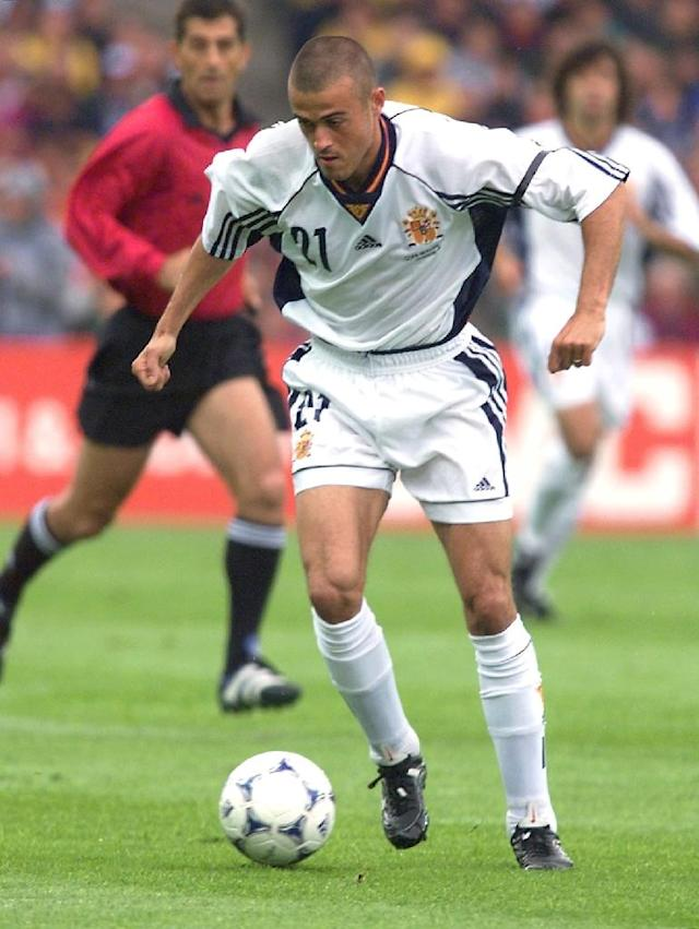Luis Enrique won 62 international caps and was a starter at the 1998 World Cup where Spain were eliminated at the group stage. (AFP Photo/FRANCOIS GUILLOT)