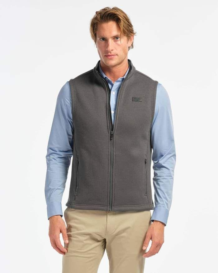 """<p>rhone.com</p><p><a href=""""https://go.redirectingat.com?id=74968X1596630&url=https%3A%2F%2Fwww.rhone.com%2Fproducts%2Fbond-fleece-vest%3Fvariant%3D30997195292775%26color%3D50&sref=https%3A%2F%2Fwww.menshealth.com%2Fstyle%2Fg37405820%2Frhone-end-of-summer-sale%2F"""" rel=""""nofollow noopener"""" target=""""_blank"""" data-ylk=""""slk:BUY IT HERE"""" class=""""link rapid-noclick-resp"""">BUY IT HERE</a></p><p><del>$98</del><strong><br>$49</strong></p><p>Maybe it's still too warm to wear a full jacket. No worries, just zip on this fleece vest and you'll be set to go. </p>"""