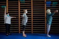 Former patients fight off lingering Covid symptoms with gym circuits 130 metres (427 feet) underground