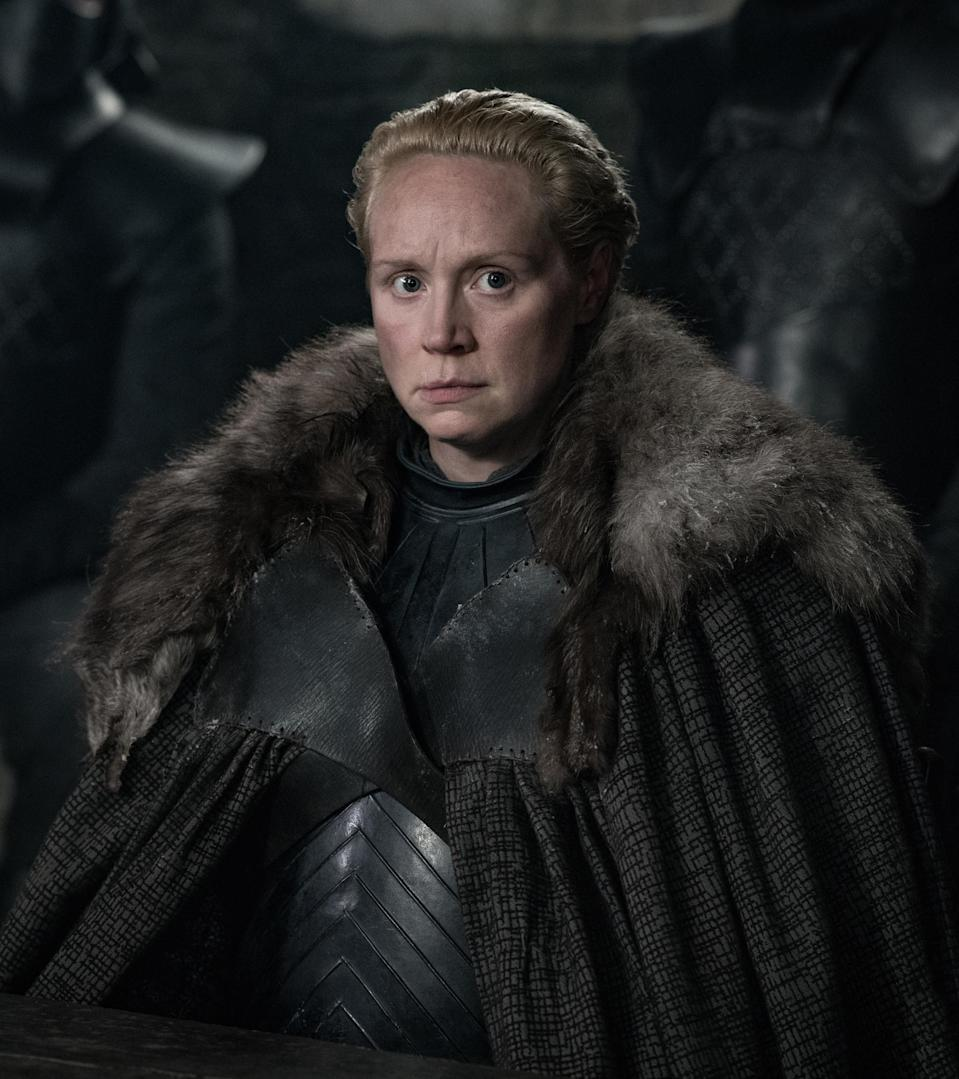 <p>Lady Catelyn may be many years dead, but Brienne is staying loyal to the Stark family, fighting for Sansa and Arya in the looming war for the Iron Throne. There's no soldier you'd rather have on your side. </p>