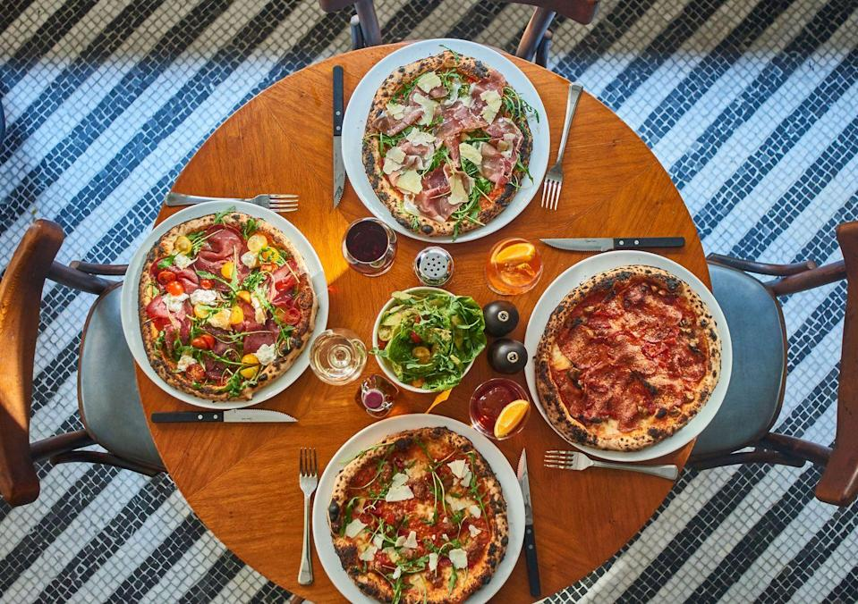 """<p>The naughty little brother of the Cecconi's (and Soho House) family, Cecconi's Pizza Bar in Soho is the perfect post-work spot. </p><p>Serving wood-fired oven pizzas, cicchetti (Italian tapas) and homemade pasta, there's something for everyone in this central Soho outpost.</p><p>If you like a party with your pizza, then head here on Thursday - Saturday when there's a DJ playing and it's open until 3am. </p><p>Address: 19-21 Old Compton Street, London W1D 5J</p><p><strong>For more info click <a href=""""http://www.cecconispizzabar.com"""" rel=""""nofollow noopener"""" target=""""_blank"""" data-ylk=""""slk:here"""" class=""""link rapid-noclick-resp"""">here</a>.</strong></p>"""