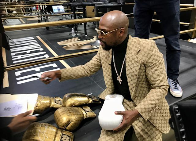 Floyd Mayweather says he's done with boxing, but he has ventures such as his gyms to keep him busy in retirement. (REUTERS/Rory Carroll)