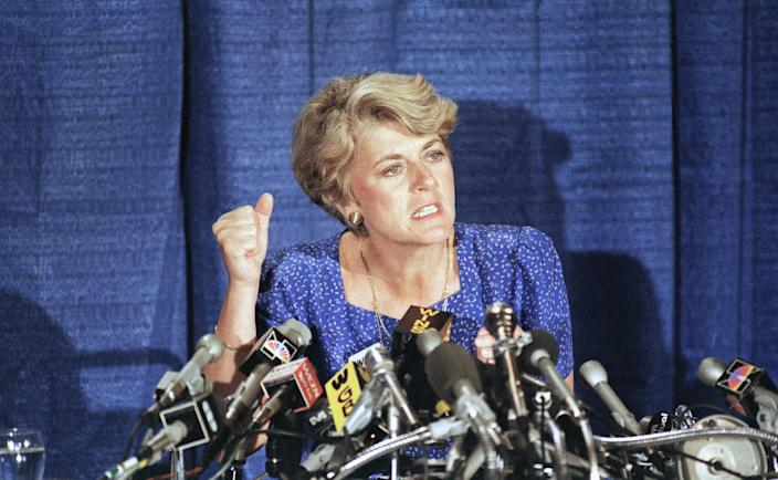 Democratic vice presidential nominee Geraldine Ferraro in 1984 in New York City.