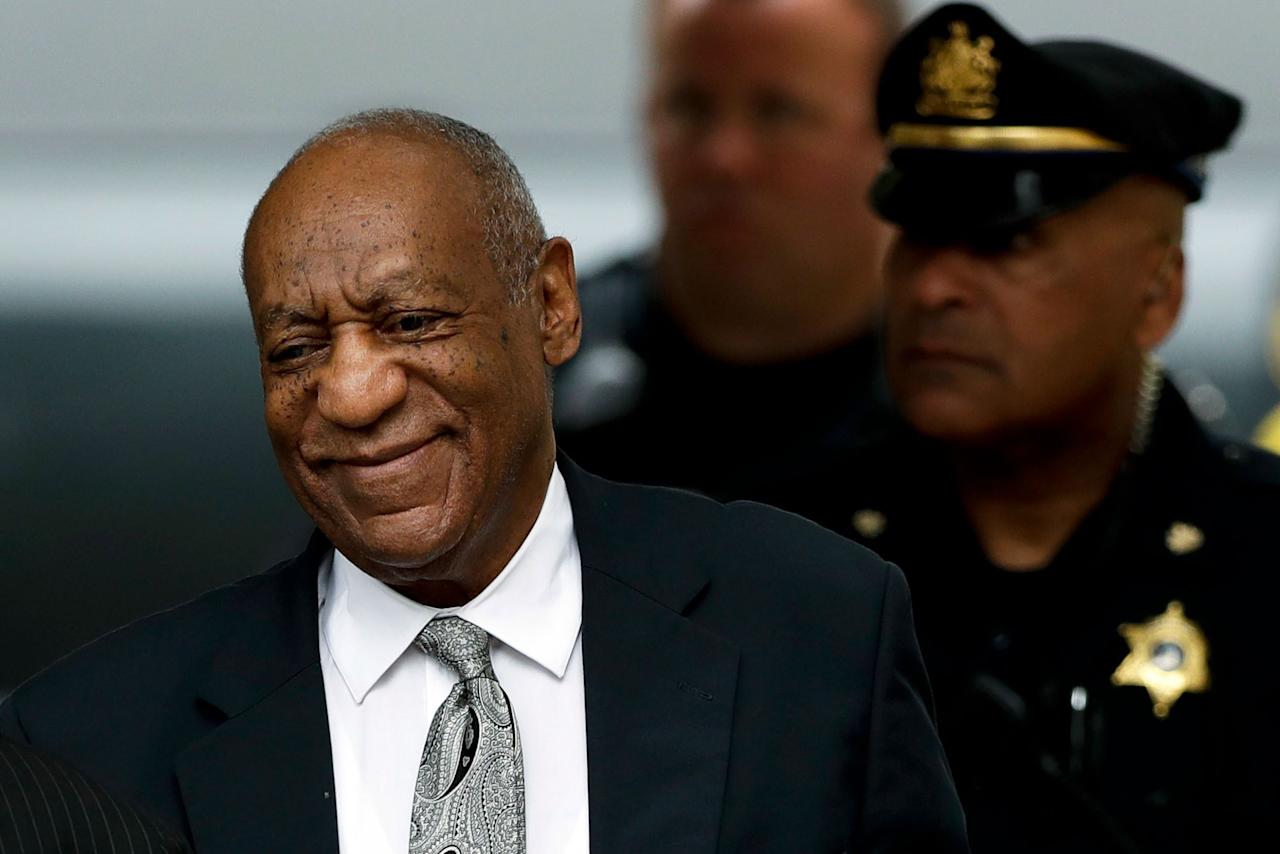 <p>Bill Cosby arrives at the Montgomery County Courthouse during his sexual assault trial, Saturday, June 17, 2017, in Norristown, Pa. (AP Photo/Matt Slocum) </p>