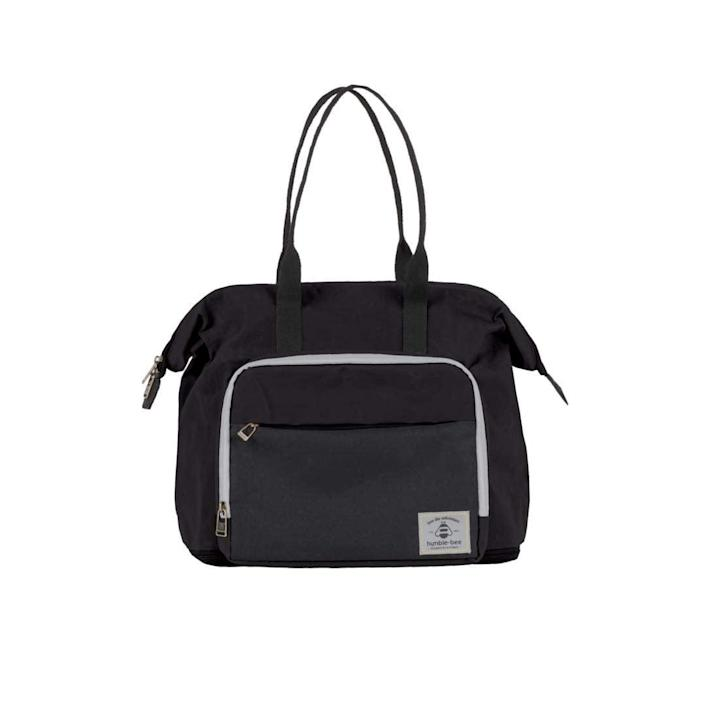 <p>The <span>Humble-Bee DB Boundless Charm in Onyx</span> ($85) has a total of 14 pockets and it comes with a removable changing pad, a baby wipes case, and a built-in waterproof wet bag.</p>