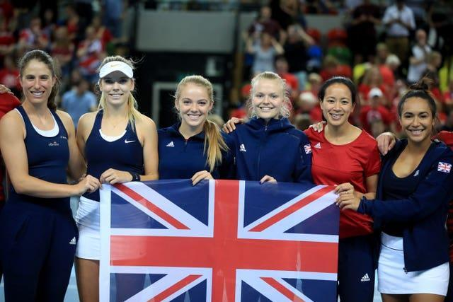 Johanna Konta, right, is missing from the line-up this time