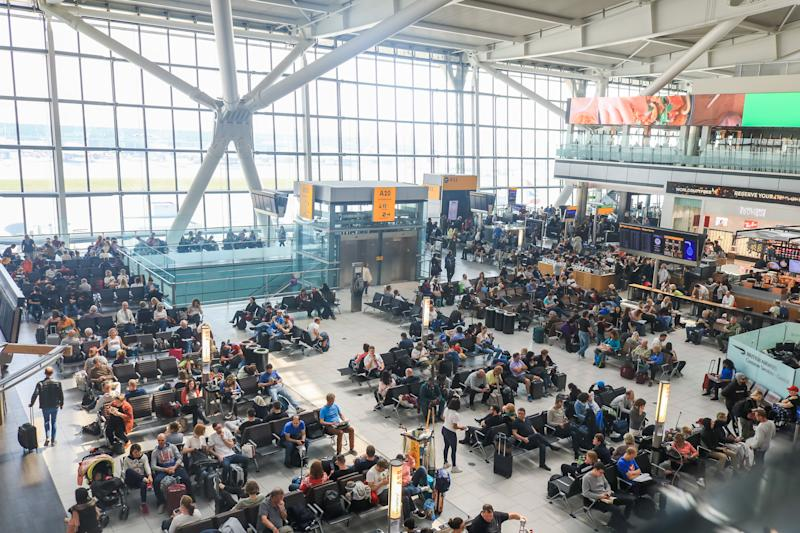 Heathrow airport has announced an increase in passenger numbers for the 29th month in a row as 6.5 million passengers passed through the UKs busiest airport in March, an average of 210,000 per day. The increase was 0.5 per cent compared with the same month in 2018, representing an additional 1,000 passengers per day. (Photo credit should read Amer Ghazzal / Barcroft Media via Getty Images)