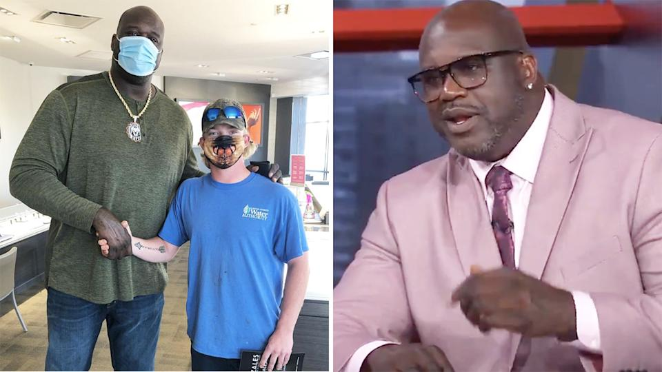 NBA legend Shaquille O'Neal has been praised after kindly paying off a man's engagement ring in a random encounter earlier this week. Pictures: Instagram/NBA on TNT