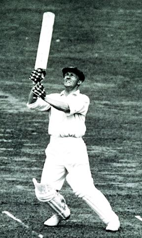Sir Donald Bradman plays a hook shot during the 1934 Test series against England. <i>Images: Getty</i>