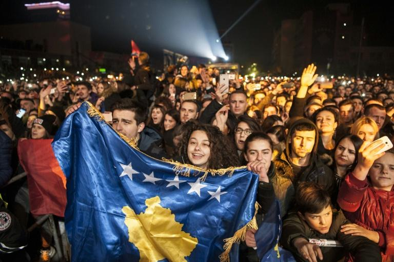 Pristina-born British pop star Rita Ora headlined a concert for thousands of Kosovars