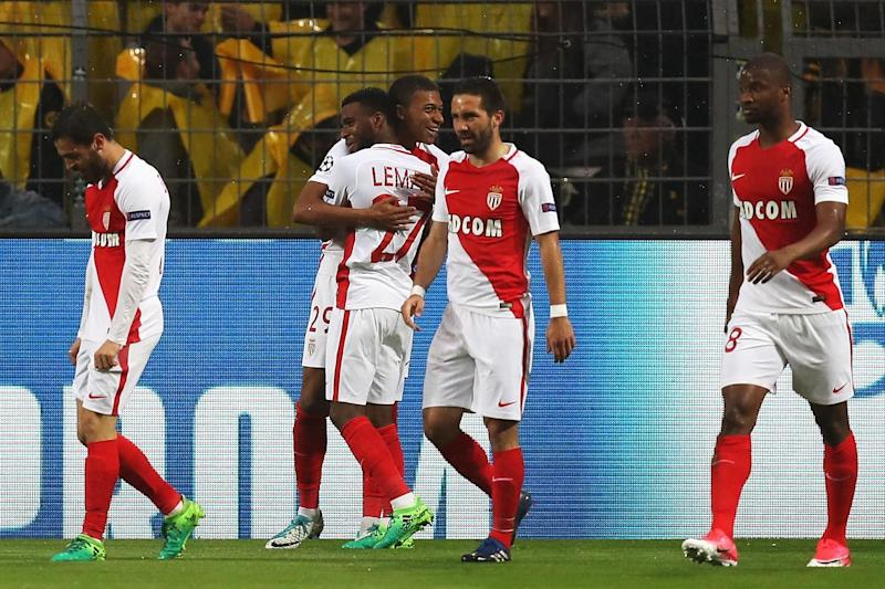 Celebrations | Kylian Mbappe opened the scoring for Monaco in Dortmund: Maja Hitij/Bongarts/Getty Images