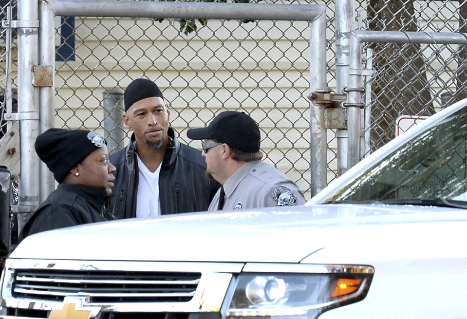 Former NFL wide receiver Rae Carruth has been released from prison after serving 19 years for conspiring to murder the mother of his unborn child. (AP)