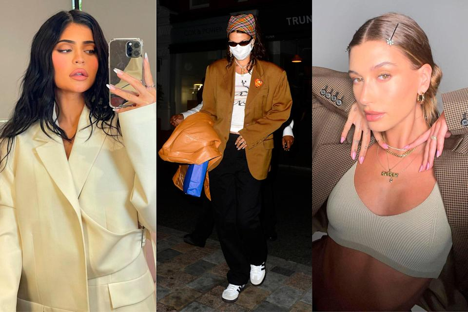 Kylie Jenner, Bella Hadid, and Hailey Bieber