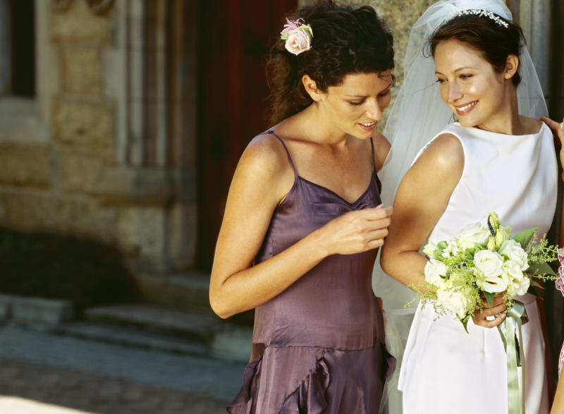 The bridesmaid decided to daringly confront the bride over the dress. Photo: Getty Images
