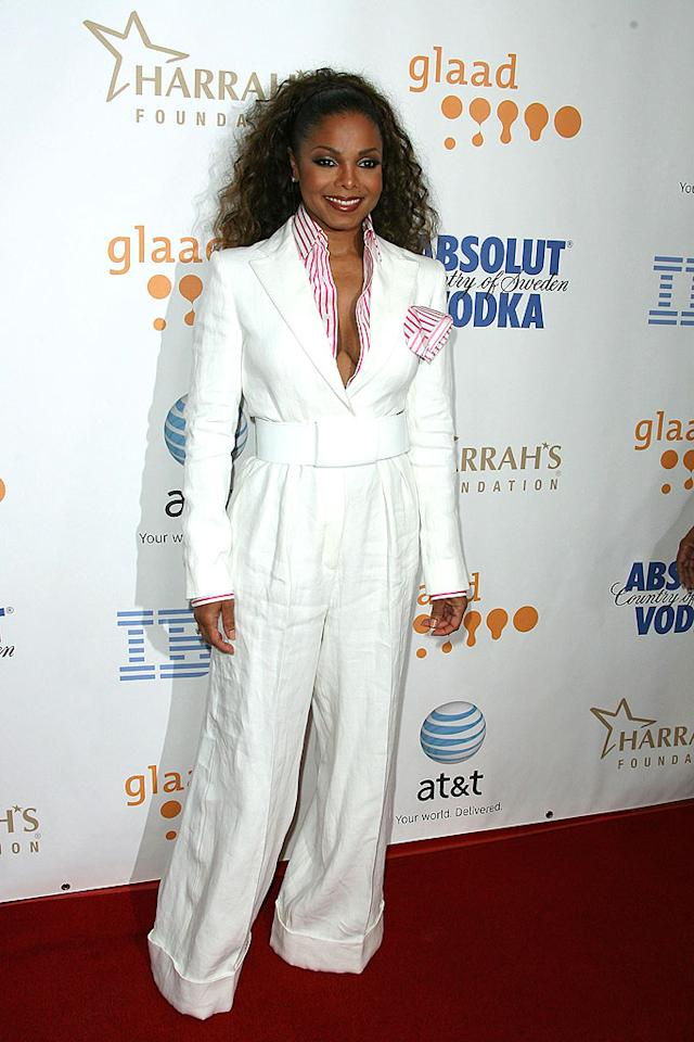 "The multi-talented Janet Jackson was honored with the Vanguard Award, which is presented to those who have increased the visibility and understanding of the LGBT community through their work. Jordan Strauss/<a href=""http://www.wireimage.com"" target=""new"">WireImage.com</a> - April 26, 2008"