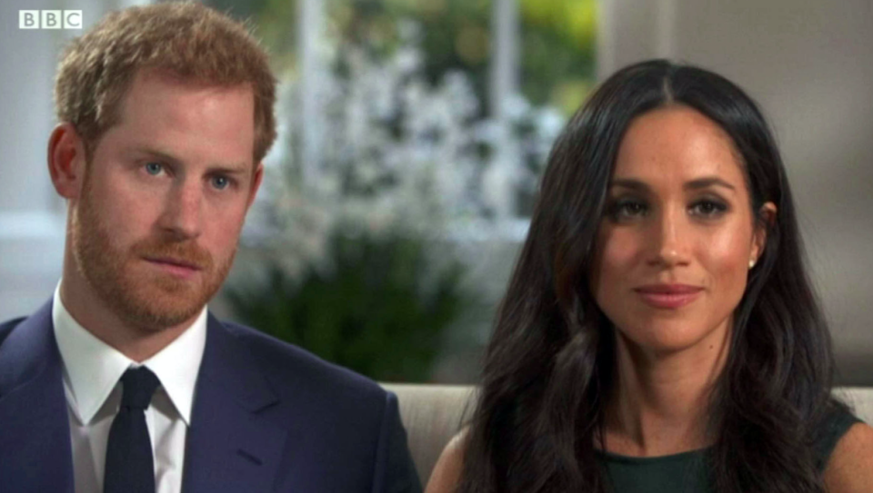 <em>Harry said the dogs didn't bark once when they met Meghan (PA)</em>