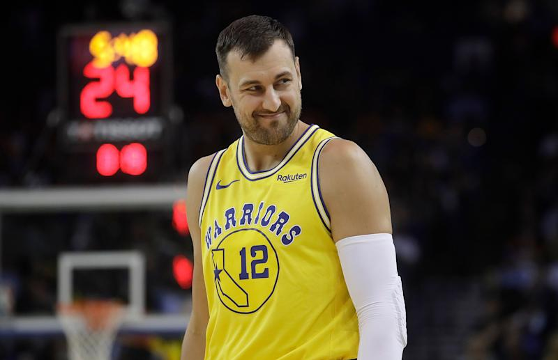 Andrew Bogut has made eight appearances for the Golden State Warriors since rejoining the two-time defending champions last month. (AP)