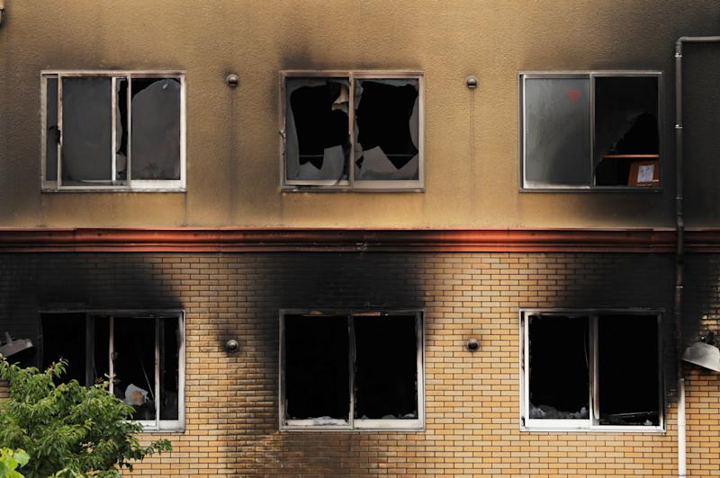 Kyoto Animation building which was torched by arson attack is seen in Kyoto, Japan on 19 July, 2019. (PHOTO: Reuters)