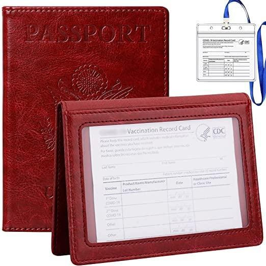<p>A <span>Tigari Passport Cover and Vaccine Card Holder Combo in Wine Red</span> ($10) makes a delicious travel companion.</p>