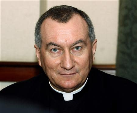 File photo of Undersecretary at the Vatican's Secretary of State Monsignor Pietro Parolin at a meeting in Hanoi