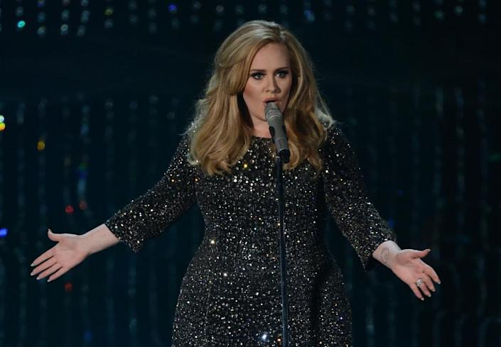 In this file picture taken on February 24, 2013, British singer Adele performs on stage at the 85th Annual Academy Awards in Hollywood, California (AFP Photo/Robyn Beck)