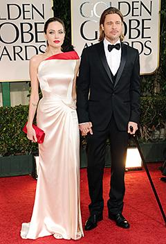 Wow! See Angelina Jolie's Sexy Golden Globes Dress
