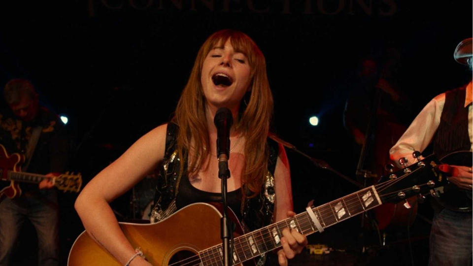 Jessie Buckley stars in country music tale 'Wild Rose'. (Credit: eOne)
