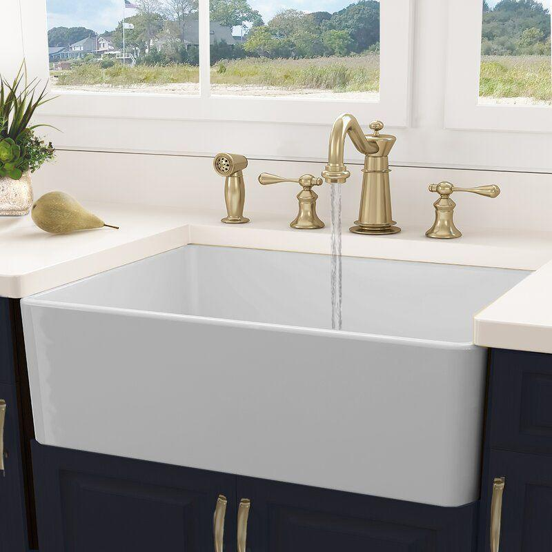 "<p><strong>Nantucket Sinks</strong></p><p>wayfair.com</p><p><strong>$499.00</strong></p><p><a href=""https://go.redirectingat.com?id=74968X1596630&url=https%3A%2F%2Fwww.wayfair.com%2Fhome-improvement%2Fpdp%2Fnantucket-sinks-cape-30-l-x-18-w-farmhouse-kitchen-sink-with-basket-strainer-nsk1156.html&sref=https%3A%2F%2Fwww.redbookmag.com%2Fhome%2Fg36078031%2Fbest-kitchen-sinks%2F"" rel=""nofollow noopener"" target=""_blank"" data-ylk=""slk:Shop Now"" class=""link rapid-noclick-resp"">Shop Now</a></p><p>If you really want to upgrade your kitchen's look, consider installing an on-trend, classic farmhouse sink. This attractive one is another customer favorite, with an average 4.8 stars, crafted from fireclay and finished with a porcelain glaze. The end result is a durable, stain-resistant sink that resists scratches and is dense enough to dampen noise without any additional soundproofing. The sink grate that's shown is included.</p>"