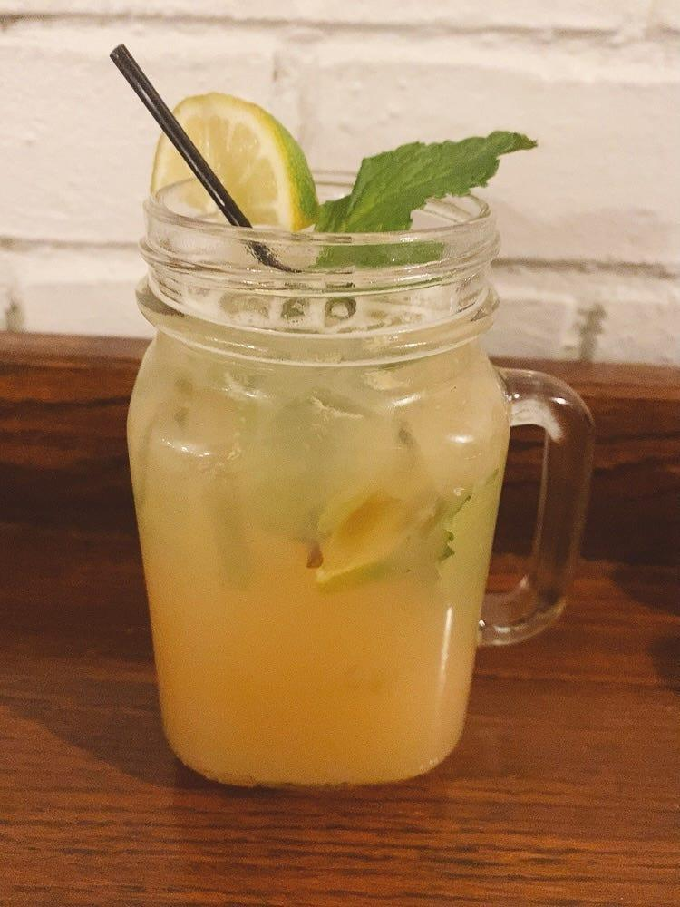 The Virgin Grapefruit Mojito, poured in a Mason jar, is satisfying Dry January thirsts at Harold's Inn in Hopewell Township, Beaver County, not far from Pittsburgh International Airport.