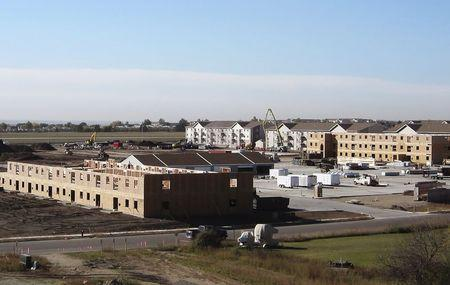 An apartment construction site is pictured in Williston, North Dakota, in this file photo taken October 9, 2014. REUTERS/Ernest Scheyder/Files