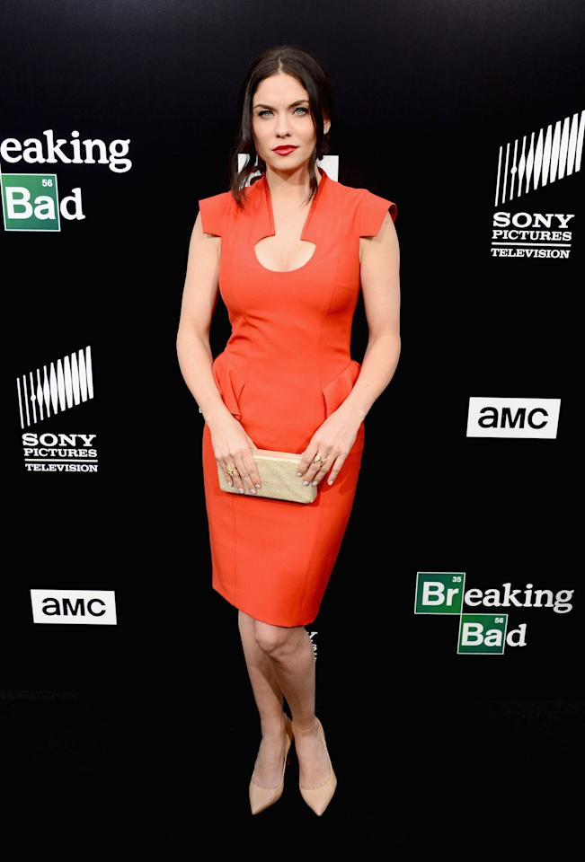 "CULVER CITY, CA - JULY 24: Actress Jodi Lyn O'Keefe arrives as AMC Celebrates the final episodes of ""Breaking Bad"" at Sony Pictures Studios on July 24, 2013 in Culver City, California. (Photo by Mark Davis/Getty Images)"