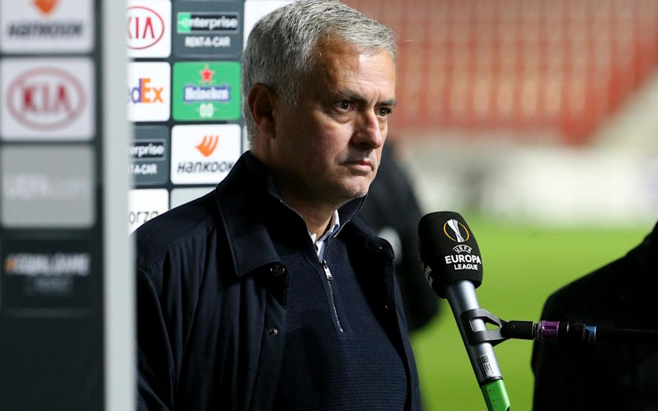 Jose Mourinho is furious with Tottenham's performance after the match - GETTY IMAGES