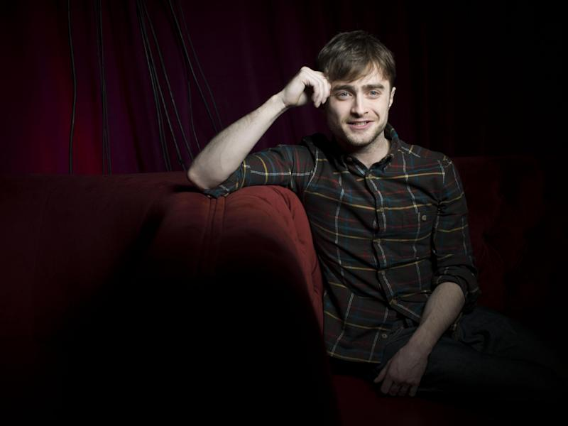 """Daniel Radcliffe from the film """"Kill Your Darlings,"""" poses for a portrait during the 2013 Sundance Film Festival at the Fender Music Lodge on Saturday, Jan. 19, 2013 in Park City, Utah. (Photo by Victoria Will/Invision/AP Images)"""