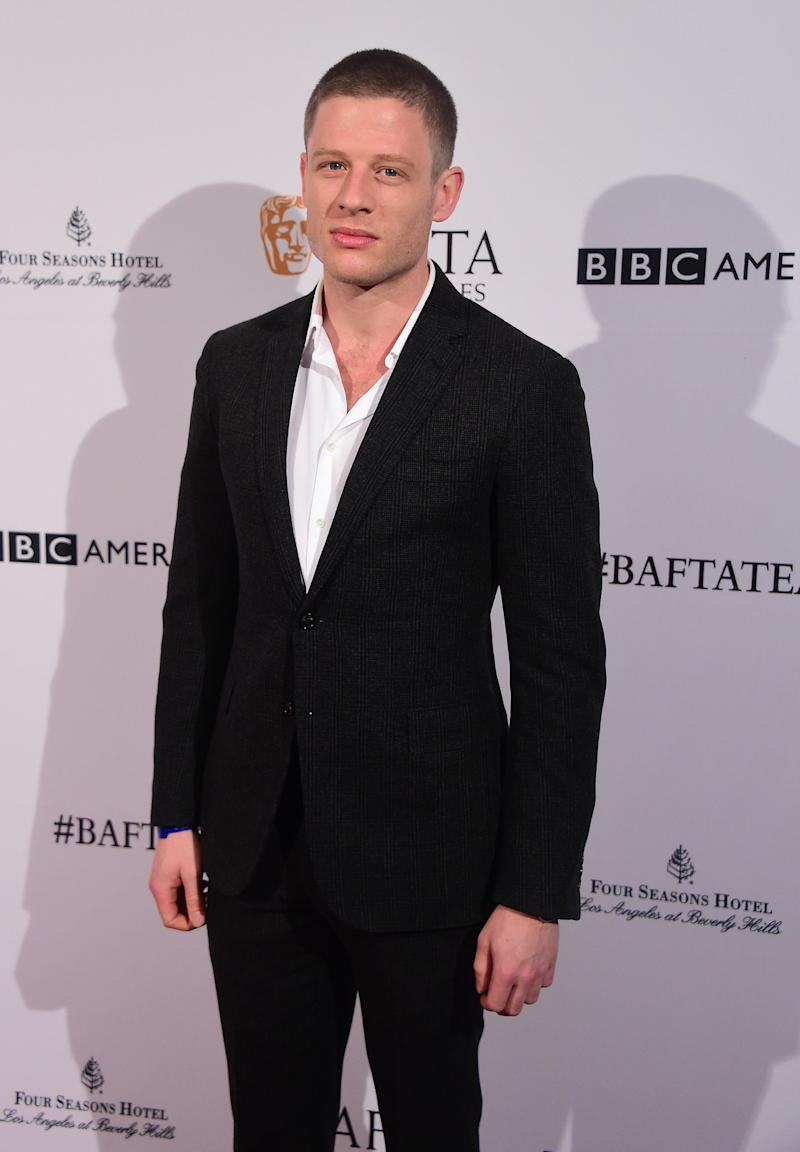 Actor James Norton poses on arrival for 2016 British Academy of Film and Television Arts Los Angeles (BAFTA) Tea Party in Beverly Hills, California, on January 9, 2016. AFP PHOTO/FREDERIC J. BROWN / AFP / FREDERIC J. BROWN (Photo credit should read FREDERIC J. BROWN/AFP/Getty Images)