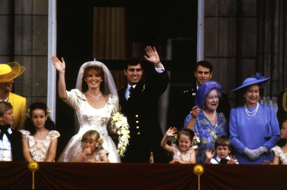 Sarah and Prince Andrew on their wedding day, in 1986.