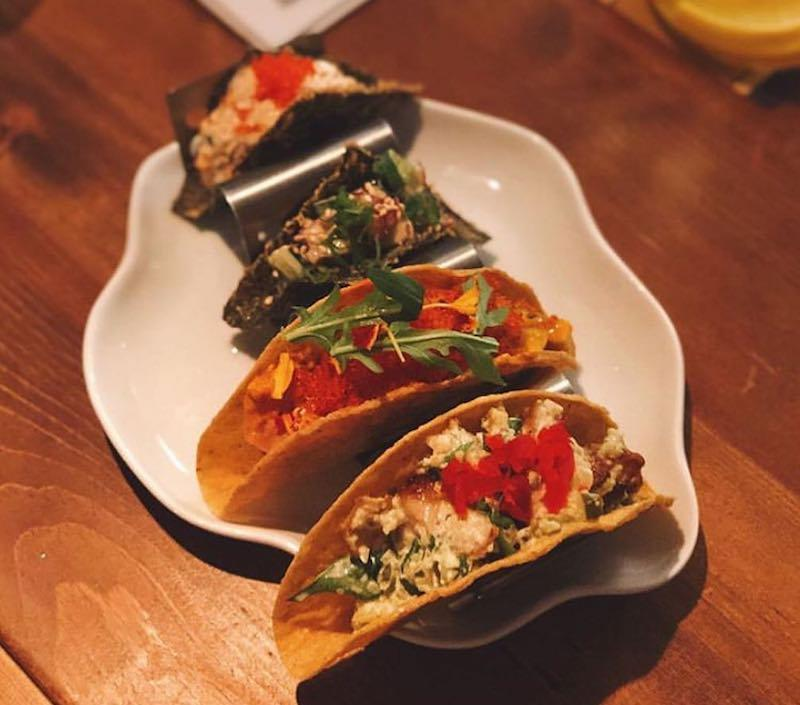 A plate of tacos from the flying squirrel