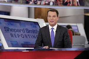 "Copyright 2017 The Associated Press. All rights reserved. This material may not be published, broadcast, rewritten or redistributed without permission. Mandatory Credit: Photo by AP/REX/Shutterstock (8174471e) Fox News Channel chief news anchor Shepard Smith broadcasts from The Fox News Deck during his ""Shepard Smith Reporting"" program, in New York TV Fox Smith, New York, USA - 30 Jan 2017"