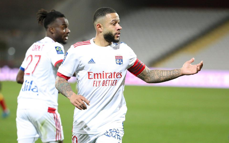 Memphis Depay is thriving at Lyon - GETTY IMAGES
