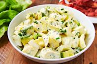"""<p>OK, egg salad is already a <a href=""""https://www.womansday.com/health-fitness/nutrition/a25602934/keto-diet-foods/"""" rel=""""nofollow noopener"""" target=""""_blank"""" data-ylk=""""slk:keto-friendly dish"""" class=""""link rapid-noclick-resp"""">keto-friendly dish</a>. But adding avocado takes it to the next level, both in terms of healthy fats and flavor. </p><p><strong><em>Get the recipe at <a href=""""https://www.delish.com/cooking/recipe-ideas/a26977854/keto-egg-salad-recipe/"""" rel=""""nofollow noopener"""" target=""""_blank"""" data-ylk=""""slk:Delish"""" class=""""link rapid-noclick-resp"""">Delish</a>. </em></strong></p>"""