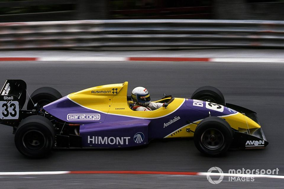 """Zanardi took pole in the F3000 race at Pau, but retired. The season saw him finish first or second every time he finished. <span class=""""copyright"""">Sutton Images</span>"""