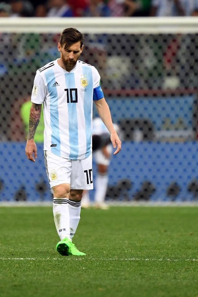 Lionel Messi has a wretched night against Croatia (AFP Photo/Dimitar DILKOFF)