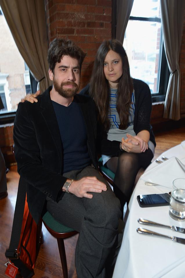 NEW YORK, NY - APRIL 18:  Adam Goldberg and guest attend the Juror Welcome Lunch during the 2013 Tribeca Film Festival at Tribeca Grill Loft on April 18, 2013 in New York City.  (Photo by Mike Coppola/Getty Images)